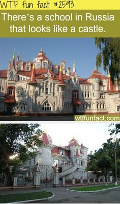 School in Russia that looks like a castle- WTF FUN FACT