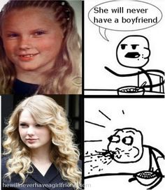 Taylor Swift Funny Jokes | Taylor swift yearbook photo, she will never have a boyfriend
