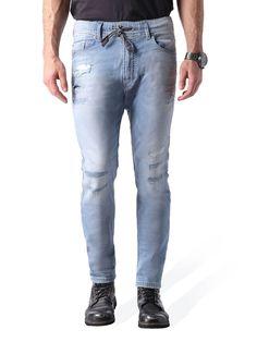 NARROT JOGGJEANS 0673M, Light Blue Diesel Jeans, Jogg Jeans, Light Blue, Mens Fashion, Pants, Carrot, Style, Image, Cowboys