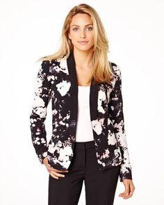 Floral print blazer RW&CO. Pre-Fall 2014 Collection