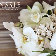 Orchid and beach coral bridal bouquet orange county wedding