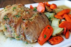 Brown Sugar Garlic Pork with Carrots & Potatoes – Dinner, then Dessert