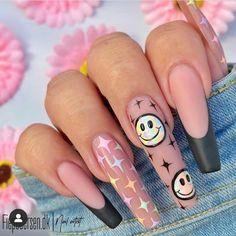 Summer Acrylic Nails, Cute Acrylic Nails, Acrylic Nail Designs, Polygel Nails, Swag Nails, Fancy Nails, Pretty Nails, Finger, Fire Nails