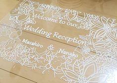 アクリル板を使った可愛い結婚式のウェルカムボードの作り方