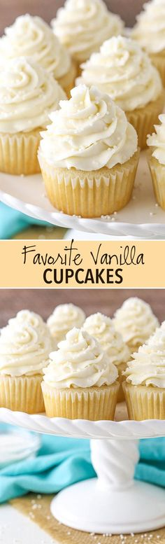 These Vanilla Cupcakes are super moist, light and fluffy and really make a great cupcake! There are a couple different recipes on my site for Vanilla Cupcakes, but these are my all-time favorite!