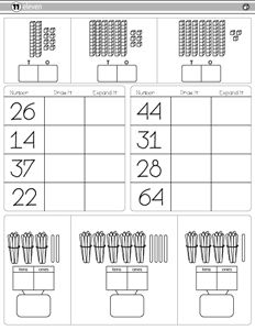 base ten blocks worksheets for first grade | Working with ...