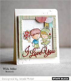 Sending Hugs Inspiration with Wida | PB blog.  adorable card!