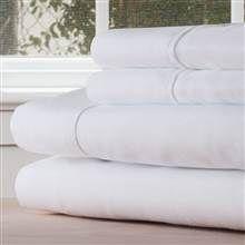 4-Pc King Sheet Set in White