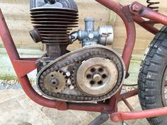1954 Ambassador Popular Motorcycle with a Villiers 8E 197cc engine