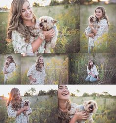Kirsten's Lee's Summit Senior Portrait Session by Jillian Farnsworth | Senior Pictures with dog