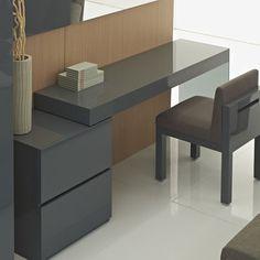 12 Office Desk Redo Ideas for you to renovate your Work space! Modern Office Desk, Home Office Desks, Home Office Furniture, Modern Furniture, Office Table, Kids Furniture, Bedroom Furniture, Neat Desk, Desk Redo