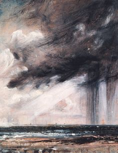 Seascape Study with Rain Cloud (detail), John Constable, 1828.