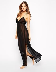 Long chiffon slip. Effortless glamour.