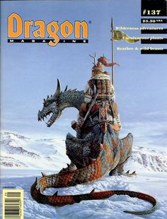Cover of Dragon magazine #137 I own this one -- this art piece is unnamed because the artist feels that naming a piece limits it.