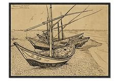 Gogh, Boats At Saintes-Maries-De-La-Mer on OneKingsLane.com