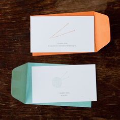 """I made this"" enclosure cards 