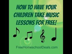 How to Have Your Children Take Music Lessons for Free   Free Homeschool Deals ©