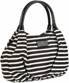 Kate Spade New York Kate Spade Nylon Stripe Small Karen Shoulder Bag    List Price:	$288.00 =>Price:	$201.60 & FREE Shipping. FREE Returns. Details You Save:	$86.40 (30%)  #cyber monday #black friday