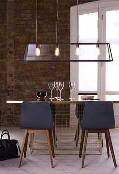 The Diner 125 large suspension light by Davey Lighting is available in either polished brass, weathered brass or nickel plated finishes. The lights have 4 lamp holders, with glass on four sides and an open top and base. Suitable for interior use. Modern Kitchen Lighting, Dining Room Lighting, Davey Lighting, Deco Cool, Luxury Lighting, Btc Lighting, Island Lighting, Dream Decor, Furniture Styles