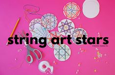 Learn how to make string art stars using paper coasters! A classic math art craft both kids and adults will love. Learn how to make string art stars using paper coasters! A classic math art craft both kids and adults will love. Drawing Games For Kids, Art Activities For Kids, Art For Kids, Crafts For Kids, Arts And Crafts, Steam Activities, Creative Activities, Activity Ideas, Creative Kids