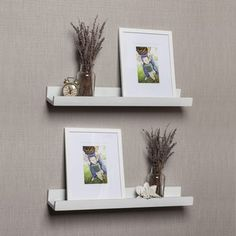 Danya B White Cornice Ledge Shelves with Photo Frames (Set of 4) - Overstock Shopping - Great Deals on Danya B Accent Pieces