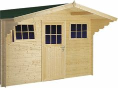 Blokhut / tuinhuisje model Ooievaar afmetingen 384 x 414 cm van Woodvision Garage Doors, Shed, Outdoor Structures, Outdoor Decor, Home Decor, Model, Decoration Home, Room Decor