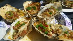 grilled oysters with jalapenos bacon and cheese...