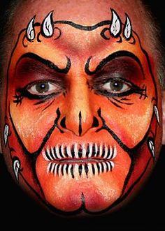 monster devil face painting