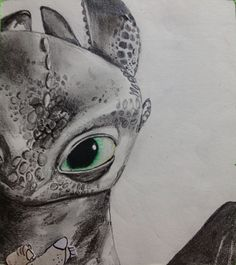 Cute drawing of Toothless from How to Train Your Dragon.