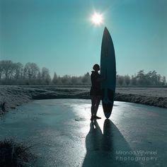 Surfing on ice!