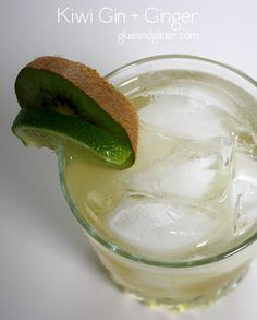 Kiwi Gin and Ginger Cocktail - Gin and ginger is nothing new, but making this cocktail with kiwi-infused gin elevates this simple drink into something really special.
