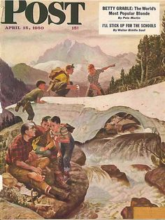 The Saturday Evening Post April 15 1950 John Clymer Vintage Americana