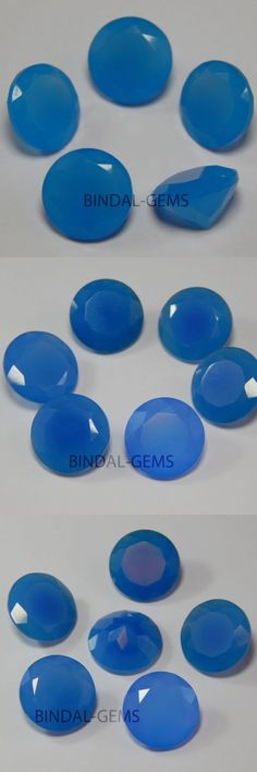 Chalcedony 110791: Blue Chalcedony 25 Pcs Finest Lot 6X6 Mm Round Shape Faceted Cut Loose Gemstone -> BUY IT NOW ONLY: $34.69 on eBay!