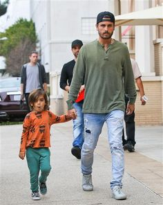 Scott Disick takes his son Mason shopping at Barneys New York in Beverly Hills, Calif., on Jan. 30, 2014.