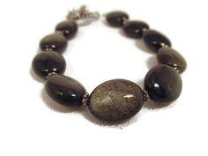 Golden Sheen Obsidian Bracelet by splendidstones. Explore more products on http://splendidstones.etsy.com