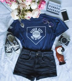 Baseball tee #ootd #ootdfash #outfit #fashion #fashionfury #dresscode #dresscode_fashion #famousoutfit #stylezandfashionn #instillandinspire #fashionaddictx0 #Fcloset #earthstyles #kissinfashion #lawsofashion #onlyfashionoutfit #hairsandstyles #americanstyle #instafashion #instastyle #femaleclothing #dressed_up #stylechoice #fashi0n_inspiration #weheartit #flatlay #flatlayapp #flatlays Only Fashion, Dress Codes, Ootd, Baseball, Clothes For Women, Spring, Tees, Inspiration, Outfits