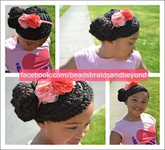 natural hair two strand twists into bun