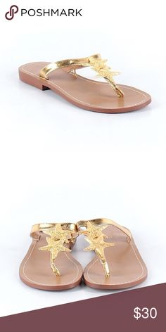 0cafd0d40e8 NWT Lilly Pulitzer for Target Gold Starfish Sandal Brand new with tags