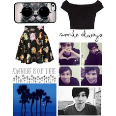 """""""beach with Dan and Phil (phan)"""" by audrey-5sos on Polyvore"""