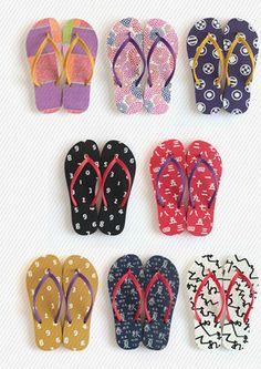 Bright Printed Flip Flops