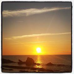 #summer #sunset #beach #cantabria #paradise