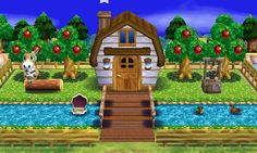 """Animal Crossing: Happy Home Designer- Winnie- """"A stable for horses"""".  Visit in game: 0906-7701-336.   #AnimalCrossing #ACHappyHomeDesigner #ACHHD"""