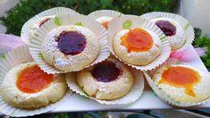 Μπισκότα βουτύρου της Γκόλφως με μαρμελάδα εύκολα βουτυρατα.. Biscuits, Cheesecake, Deserts, Muffin, Cookies, Breakfast, Recipes, Youtube, Food