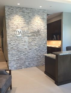 Looking to update your offices? Accounting firm DeRenzis & Associates, LLP in Chino, CA just updated their entrance with a beautiful feature wall of Silver Split 3-D Stack.https://arizonatile.com/en/products/stack/natural-stone-stack/3-d-mesh-mount-stack#utm_sguid=152185,4068e20e-d08a-00aa-eccf-58c19542552b