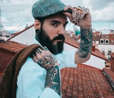 www.chalemagne-premium.com View the best mens hairstyles from Charlemagne Premium male grooming and beard styling. We love the sexy looks using pomades, clay, matte paste and the coolest messy looks. shave tattoo shaving www.charlemagne-premium.com bike biker rocker surfer look inspiration rock n roll