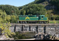 RailPictures.Net Photo: GMR 305 Green Mountain Railroad EMD GP40 at Bellows Falls, Vermont by Don Janes