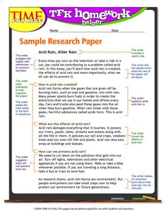 006 Sample of an outline for a research paper (5th grade