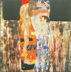 Le tre età della donna - 1905 - Klimt Gustav - Opere d'Arte su Tela - Listino prodotti - Digitalpix - Canvas - Art - Artist - Painting