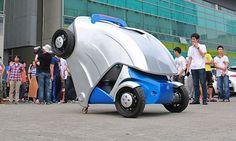 Amardillo-T, le prototype de voiture pliable qui vous fera gagner de la place une fois garé