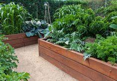 Køkkenhavens design behøver ikke være tilfældigt, bare fordi man skal høste afgrøderne. Her er en række eksempler, hvor skønheden er en vigtig faktor.